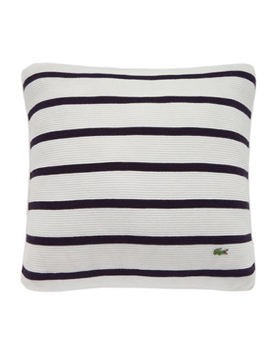 Lacoste Antibes Square Cushion-NAVY-18x18