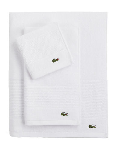 Lacoste Legend Supima Cotton Bath Towel-WHITE-Bath Towel