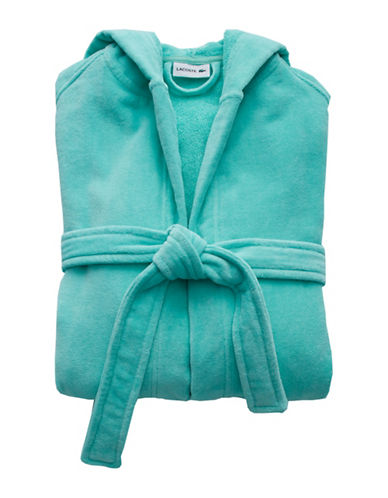 Lacoste Fairplay Velour Robe-BEACH GLASS-One Size