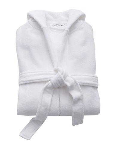 Lacoste Fairplay Velour Robe-WHITE-One Size