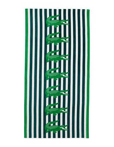 Lacoste Croc-Printed Beach Towel-GREEN-Beach Towel