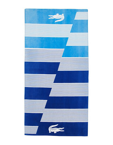Lacoste Graphic Printed Beach Towel-BLUE-Beach Towel