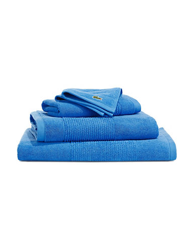 Lacoste Legend Supima Cotton Wash Cloth-SURF BLUE-Washcloth