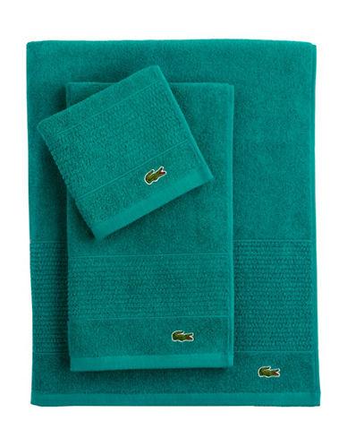 Lacoste Legend Supima Cotton Wash Cloth-PEACOCK-Washcloth
