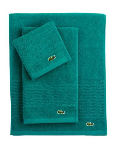 Lacoste Supima Hand Towel-PEACOCK-Hand Towel
