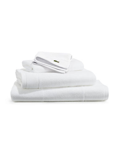 Lacoste Legend Supima Cotton Wash Cloth-WHITE-Washcloth