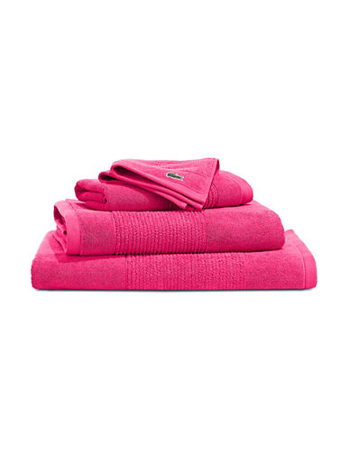 Lacoste Legend Supima Cotton Bath Towel-MAGENTA-Bath Towel