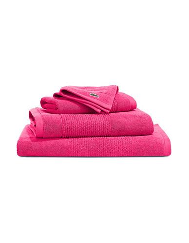 Lacoste Supima Bath Towel-MAGENTA-Bath Sheet