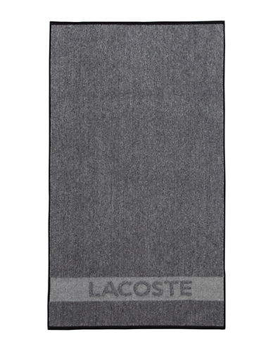 Lacoste Heathered Bath Towel-BLACK-Bath Towel