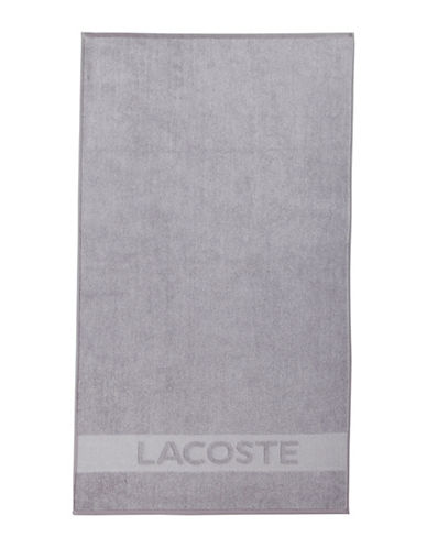 Lacoste Heathered Bath Towel-SILVER-Bath Towel