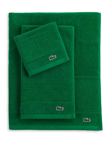Lacoste Legend Supima Cotton Wash Cloth-FIELD GREEN-Washcloth