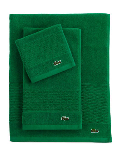 Lacoste Supima Hand Towel-FIELD GREEN-Hand Towel