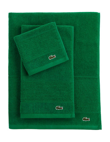 Lacoste Legend Supima Cotton Bath Towel-FIELD GREEN-Bath Towel