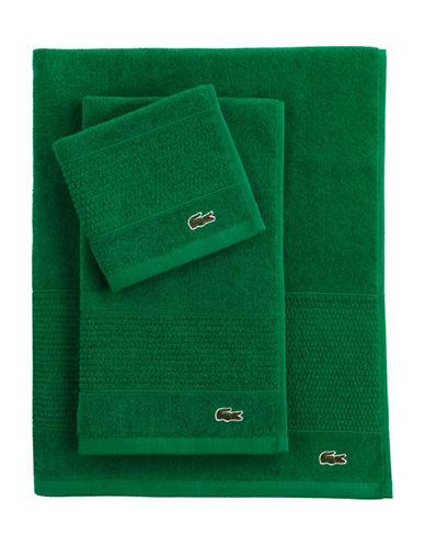 Lacoste Supima Bath Towel-FIELD GREEN-Bath Sheet