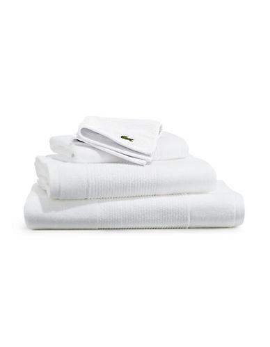Lacoste Supima Bath Towel-WHITE-Bath Sheet