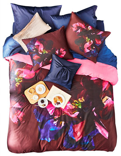 Ted Baker London Impressionist Cotton Sham & Duvet Cover Set-PURPLE MULTI-King