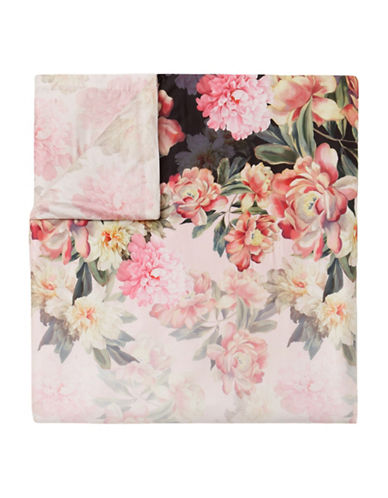Ted Baker London Painted Posies Cotton Sham & Duvet Cover Set-PINK MULTI-Queen