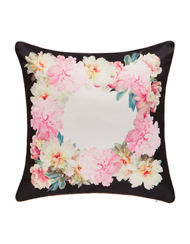 Ted Baker London Painted Posies Pillow-PINK-18x18