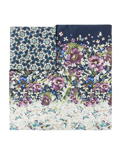 Ted Baker London Entangled Cotton Sham & Duvet Cover Set-BLUE MULTI-King