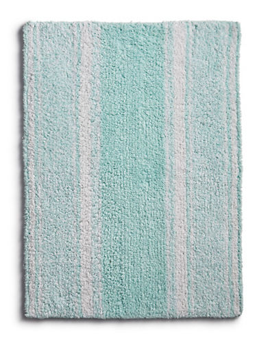 Martha Stewart Reversible Cotton Bath Rug-SEA SPRAY-17x24