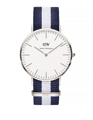 Daniel Wellington Classic Glasgow NATO Strap Stainless Steel Watch-BLUE-One Size