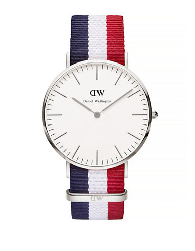 Daniel Wellington Classic Cambridge NATO Strap Watch-SILVER-One Size