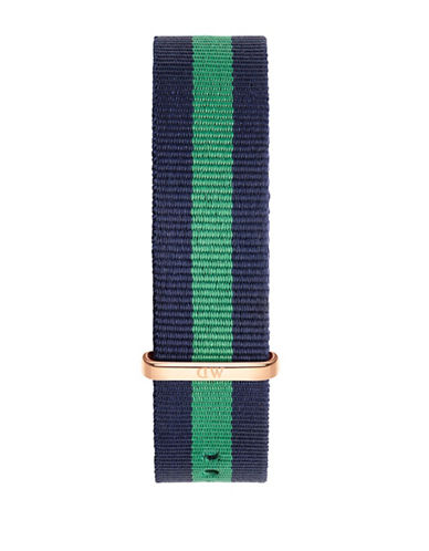 Daniel Wellington Warwick NATO Goldplated Watch Strap-GREEN-One Size