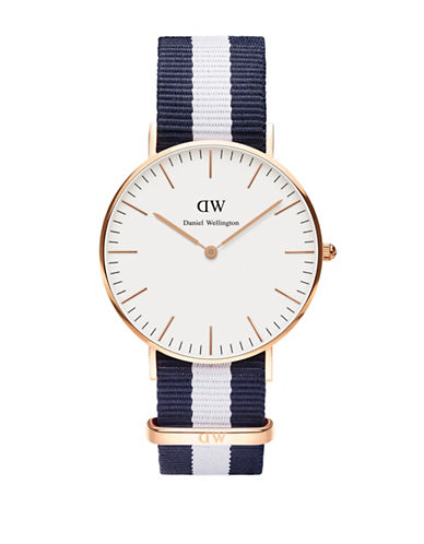 Daniel Wellington Classic Glasgow 36mm Analog Watch-BLUE-One Size