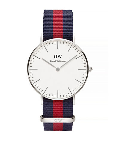 Daniel Wellington Oxford NATO Strap Stainless Steel Watch-SILVER-One Size