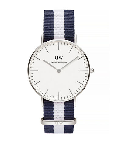 Daniel Wellington Classic Glasgow NATO Strap Watch-SILVER-One Size
