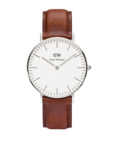 Daniel Wellington St.Mawes Classic 36mm Leather Watch-BROWN-One Size