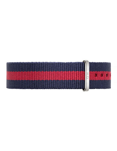 Daniel Wellington Oxford NATO Watch Strap-SILVER/RED-One Size