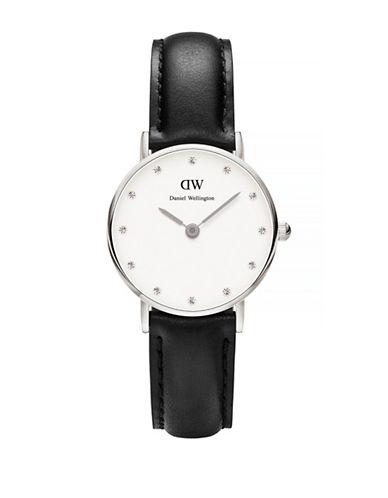 Daniel Wellington Classy Sheffield 26mm Leather Watch-BLACK-One Size