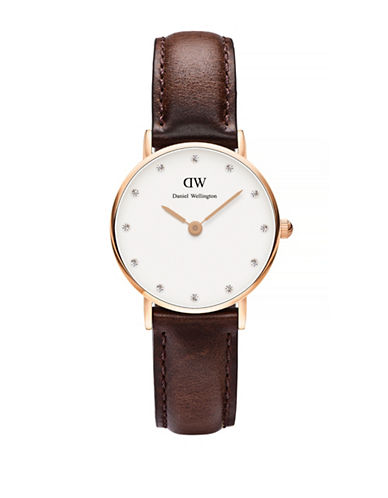 Daniel Wellington Classy Bristol Goldplated Watch-BROWN-One Size