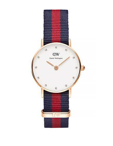 Daniel Wellington Classy Oxford NATO Goldplated Watch-RED-One Size