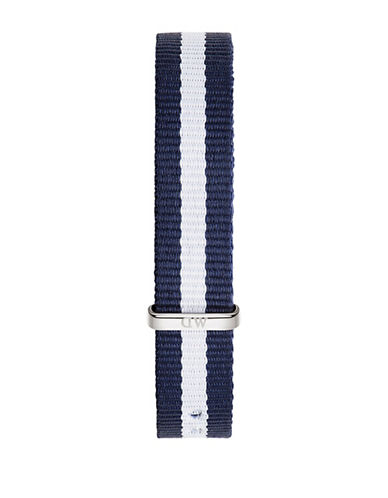 Daniel Wellington Silver Winchester NATO Watch Strap-SILVER/BLUE-One Size