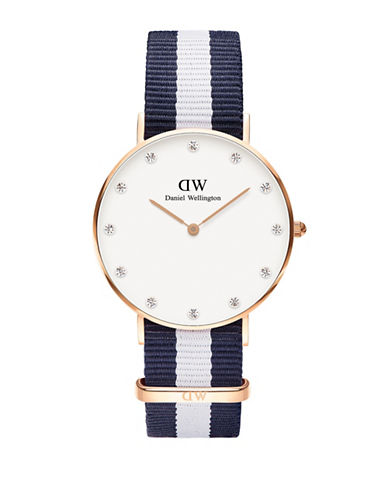 Daniel Wellington Classy Glasgow NATO Watch-BLUE-One Size