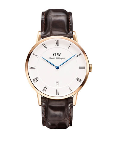 Daniel Wellington Dapper York 38mm Leather Watch-BROWN-One Size