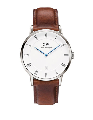 Daniel Wellington Dapper St.Mawes 38mm Leather Watch-BROWN-One Size