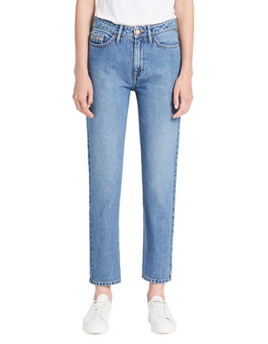 Calvin Klein Jeans High-Rise Cotton Skinny Jeans-BLUE-26
