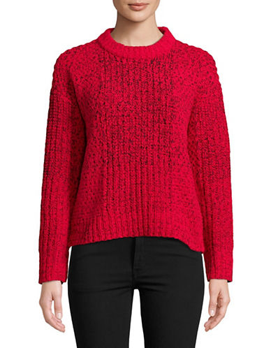 Calvin Klein Jeans Ombre Stitch Sweater-RED-X-Large