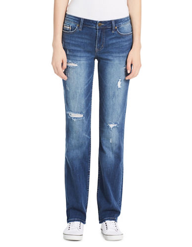 Calvin Klein Jeans Straight-Fit High-Rise Jeans-BLUE-26