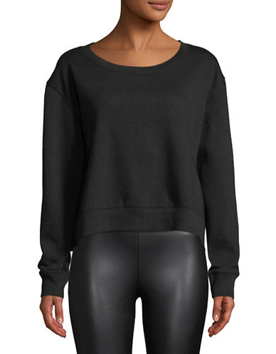 Calvin Klein Jeans Round Neck Sweater-BLACK-X-Large