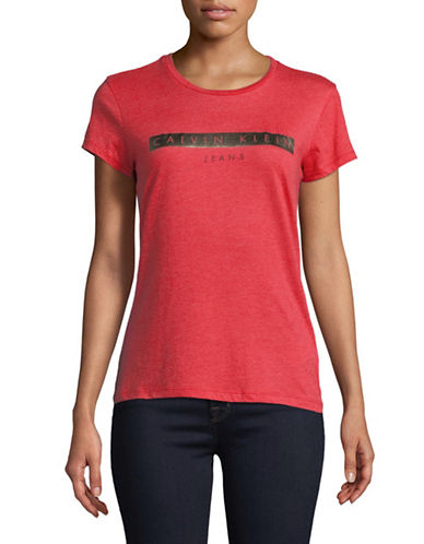 Calvin Klein Jeans Knockout Iconic Tee-RED-Medium 89761545_RED_Medium