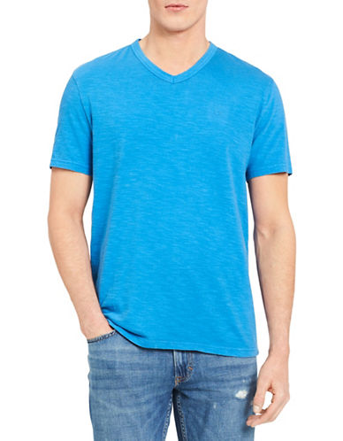 Calvin Klein Jeans Mixed Media V-Neck Cotton T-Shirt 89986891