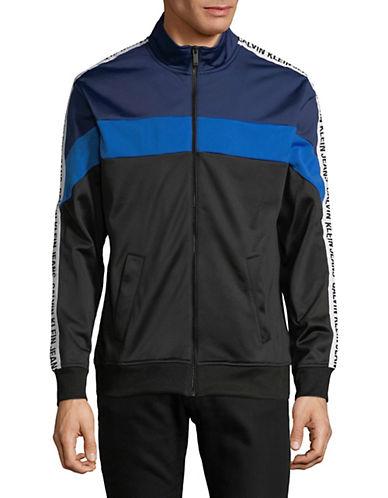 Calvin Klein Jeans Veste en tricot à contraste de couleurs et logo 89986912