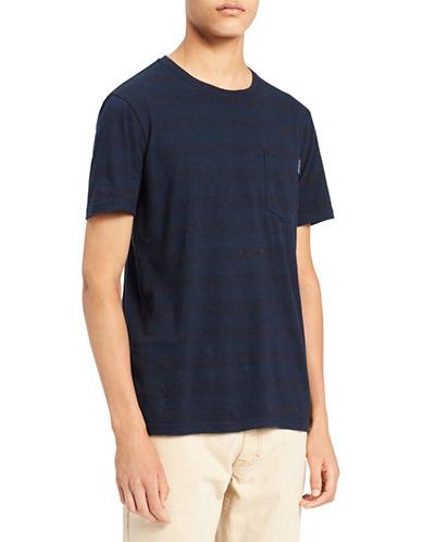 Calvin Klein Jeans Striped Logo Pocket T-Shirt-BLUE-Large 89986898_BLUE_Large