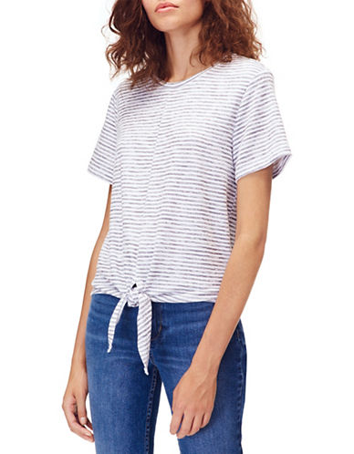 Calvin Klein Jeans T-shirt à manches courtes avec attache à nouer sur le devant 89995502