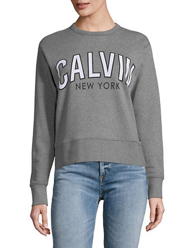 Calvin Klein Jeans Flocked Logo Cotton Sweatshirt 90001174