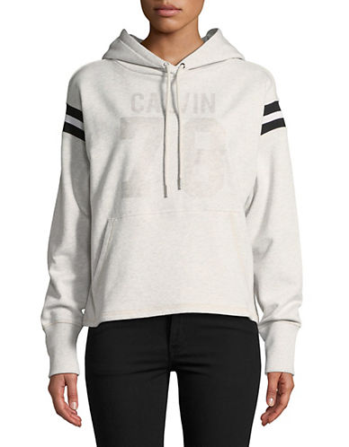 Calvin Klein Jeans Athletic Stripe Hoodie-GREY-Small 89995550_GREY_Small